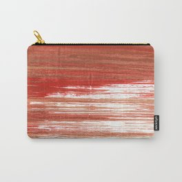 Medium carmine abstract watercolor Carry-All Pouch