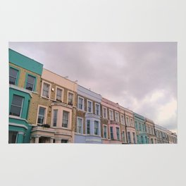 Colourful houses in Notting Hill, London Rug