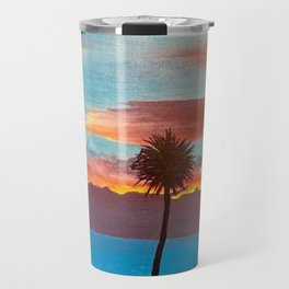 The Beautiful Key West Sun is captured in this ocean sunset painting Travel Mug