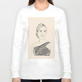 Kate Winslet Portrait Long Sleeve T-shirt