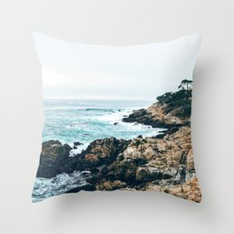 Standing on the Coast Throw Pillow