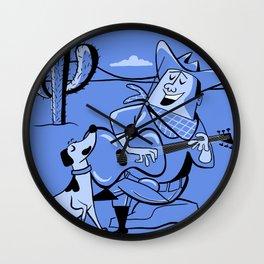 Campfire Cowboy Song Wall Clock