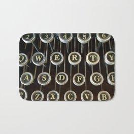'Qwerty' Typewriter Keys Photo Bath Mat