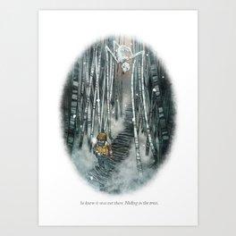 Behind You 81 Art Print