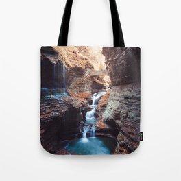 Waterfall at Watkins Glen Tote Bag