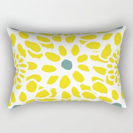 Flowers in Yellow Rectangular Pillow