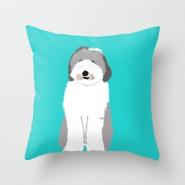 Lucy The Sheepadoodle Throw Pillow