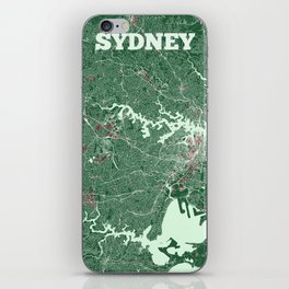 Sydney, Australia street map iPhone Skin