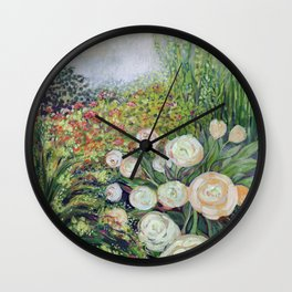 A Garden Romance Wall Clock
