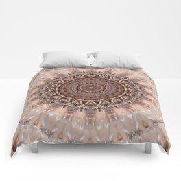 Mandala romantic pink Comforters