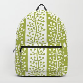 Mid Century Modern Berry Vine Stripes Chartreuse Backpack