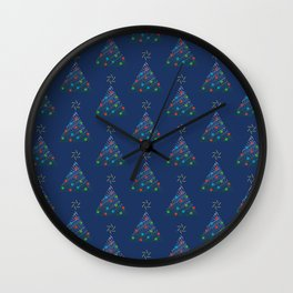 Christmas Trees Pattern Wall Clock