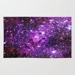 Purple Galaxy Eagle Nebula Rug