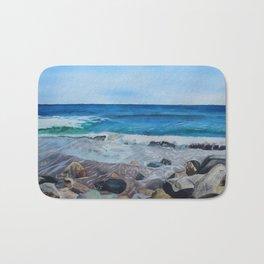 Hampton Beach Painting Bath Mat