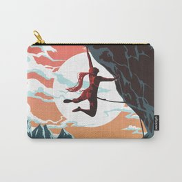Rock Climbing Girl Vector Art Carry-All Pouch