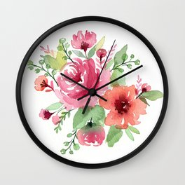 Romantic flowers Wall Clock