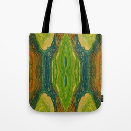 The Excavation of a Luminous Chamber (Enchanted Chemical Abyss) (Reflection) Tote Bag