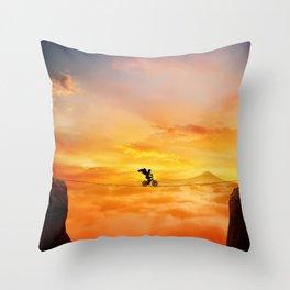 sunset balance Throw Pillow