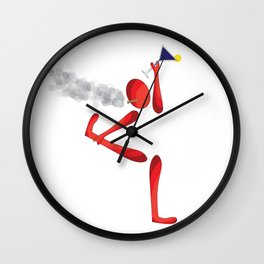 The Smoky Stretch Wall Clock