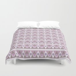 Geometric background pink pattern - circles, triangles, vector. Duvet Cover