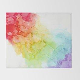 Study in Rainbow Throw Blanket