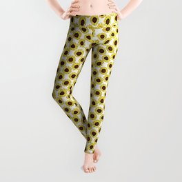Sunflowers are the New Roses! - White Leggings