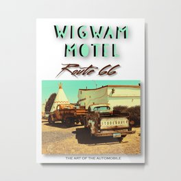TRUCKS AT WIGWAM MOTEL Metal Print