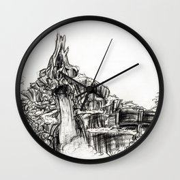 Splash Mountain Wall Clock
