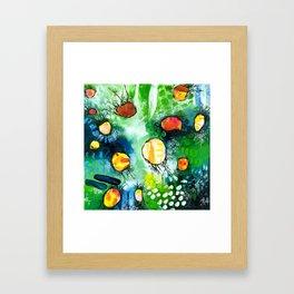 Drifting in Green Framed Art Print
