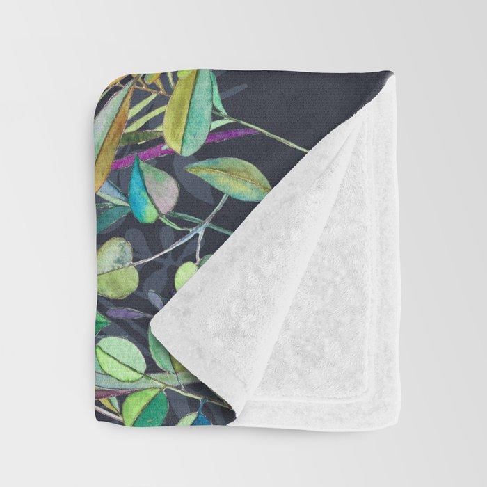 Little Garden Birds in Watercolor Throw Blanket
