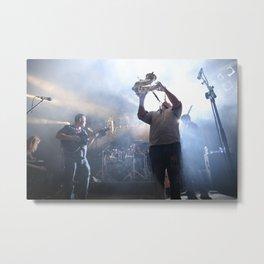 Sax player Metal Print