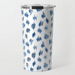 Brushstrokes of blue paint Travel Mug