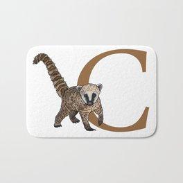 C for Coati Bath Mat