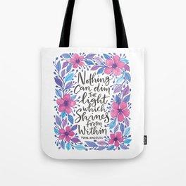 Maya Angelou Watercolour Quote Tote Bag