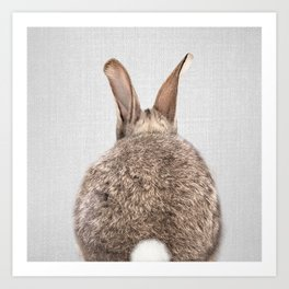 Rabbit Tail - Colorful Art Print