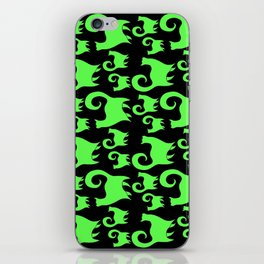 Green Snobby Cats iPhone Skin