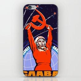 Soviet Propaganda. Yuri Gagarin iPhone Skin