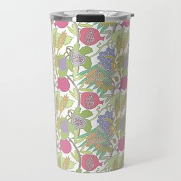Seven Species Botanical Fruit and Grain with Pastel Colors Travel Mug
