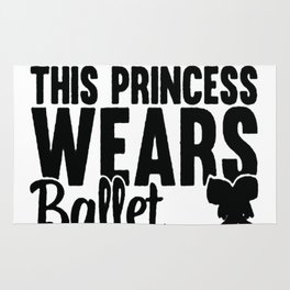 FORGET GLASS SLIPPERS THIS PRINCESS WEARS BALLET SHOES RACERBACK TANK Rug