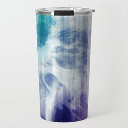 Boho Chic Blue Tie-Dye Travel Mug