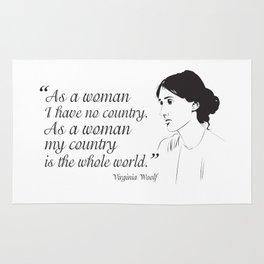 Virginia Woolf Feminist Quote Rug
