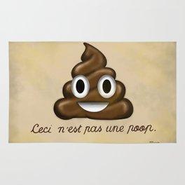 Ceci n'est pas une poop. Rug