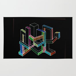 Geometric colorful modern II Rug