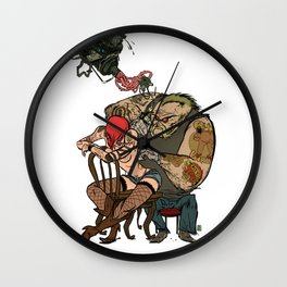 NICOLAS BRONDO ARTS - Tattoo nation Wall Clock