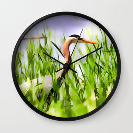 Master of the Marshes  -  Blue Heron Wall Clock