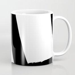 BLACK AND WHITE ABSTRACT BRUSH Coffee Mug