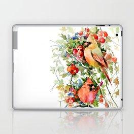 Cardinal Birds and Hawthorn Laptop & iPad Skin