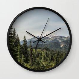 Mt Rainier from Naches Peak Loop Wall Clock