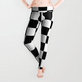 Black & White Checkered Pattern Leggings