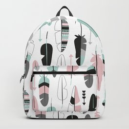 Arrows and feathers summer pattern Backpack